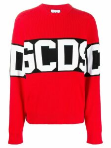 Gcds logo band ribbed jumper - Red