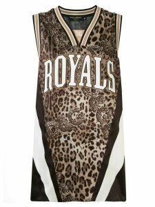 Dolce & Gabbana leopard logo print jersey vest - Brown