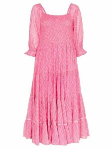 LoveShackFancy Rigby floral print dress - PINK