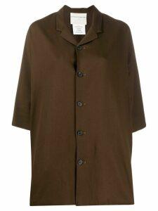 Stephan Schneider half-sleeve shirt jacket - Brown