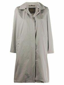 Moorer long-sleeved trench coat - Grey