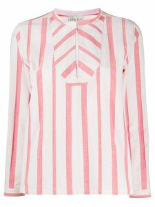Forte Forte loose fit striped blouse - Red