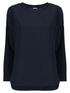 Aspesi round-neck silk blouse - Blue