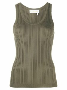 Remain scoop-neck ribbed tank top - Green