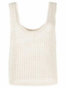 Nanushka Tula knitted top - NEUTRALS
