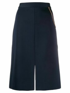 Givenchy chain detailed straight skirt - Blue