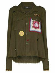 AMIRI appliqué detail military jacket - Green