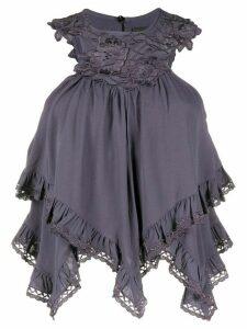 Isabel Marant ruffle trimmed blouse - Blue
