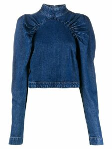 ROTATE denim long sleeve top - Blue