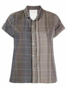 Stephan Schneider check-pattern short-sleeve shirt - Brown