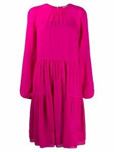 Nº21 gathered mid-length dress - PINK