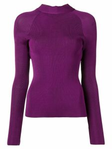 Petar Petrov Kiena open back jumper - PURPLE
