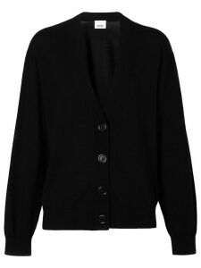 Burberry elbow-patch cardigan - Black