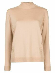 Delpozo shoulder-button jumper - Brown