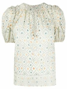 Ulla Johnson Leya printed blouse - NEUTRALS