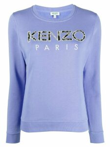 Kenzo logo embroidered sweatshirt - PURPLE