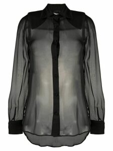 Federica Tosi sheer silk blouse - Black
