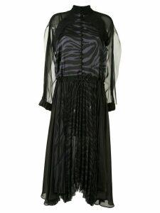 Sacai pleated sheer dress - Black