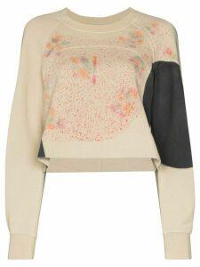 Eckhaus Latta splatter print sweatshirt - NEUTRALS