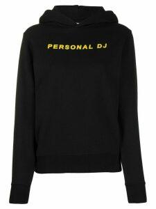 Kirin Personal DJ print longsleeved hoodie - Black