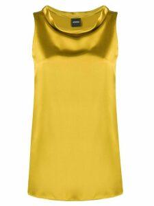 Aspesi boat-neck silk top - Yellow
