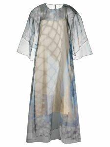 Maison Margiela sheer patterned midi-dress - Blue
