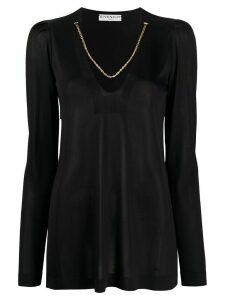 Givenchy chain trim neckline jumper - Black