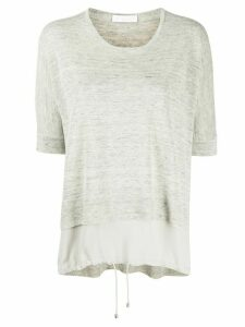 Fabiana Filippi layered knitted T-shirt - Grey