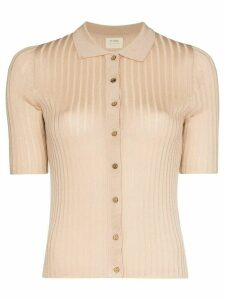 st. agni Arlo ribbed knitted top - Brown