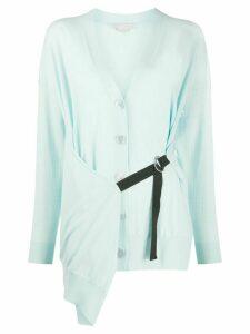 Stella McCartney wrap-style buckle-strap cardigan - Blue