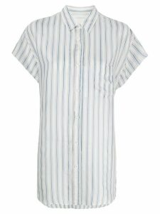 Maison Margiela pinstriped short sleeved shirt - White