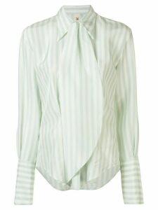 Petar Petrov Chablis striped shirt - Green