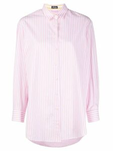Mc2 Saint Barth embroidered striped shirt - White