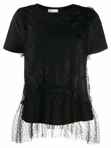 RedValentino tulle-layer cotton T-shirt - Black