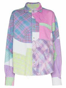 Natasha Zinko check print shirt - PINK