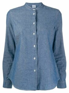 Aspesi collarless denim shirt - Blue