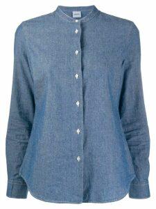 Aspesi collarless denim shirt - Blue