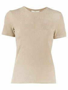 Tibi short-sleeved knitted top - NEUTRALS