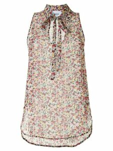 Dondup floral sleeveless blouse - PINK