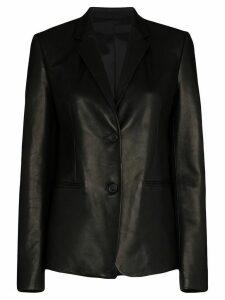 Helmut Lang leather blazer - Black