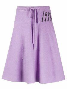 Mm6 Maison Margiela knitted flared skirt - PURPLE