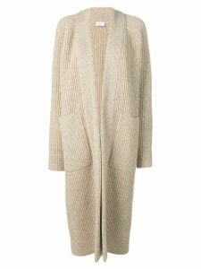 Ami Paris Long Gilet Rib Sweater - NEUTRALS