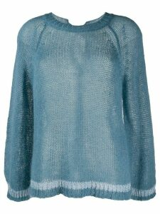 Semicouture oversized sheer jumper - Blue