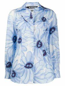 Jacquemus La chemise Valensole open-back shirt - Blue