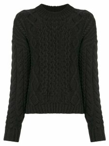 Sir. Ava cable-knit jumper - Black