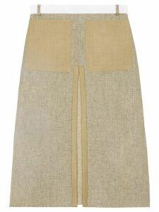 Burberry box-pleat A-line skirt - NEUTRALS