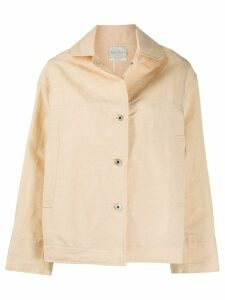Forte Forte long sleeve boxy fit jacket - NEUTRALS