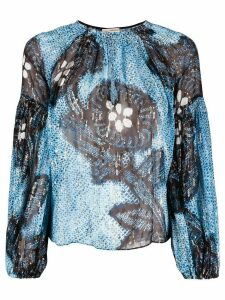 Ulla Johnson Sanya key-hole blouse - Blue