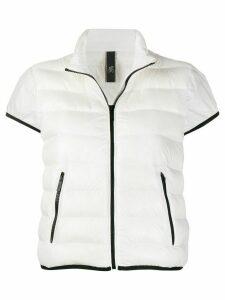 Hogan padded short-sleeved jacket - White