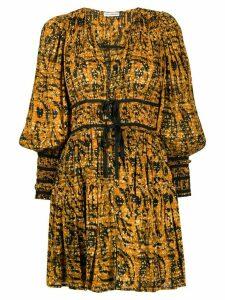 Ulla Johnson Kesia ruched waist dress - Yellow